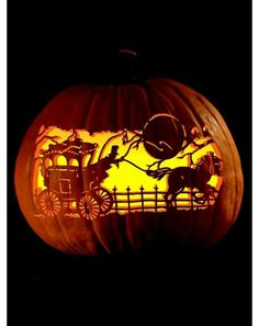 Awesome pumpkin carving art
