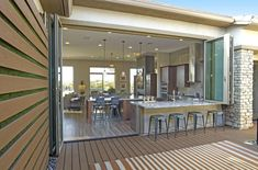 """Outstanding """"outdoor kitchen designs layout patio"""" detail is offered on our site. Check it out and you wont be sorry you did. Indoor Outdoor Kitchen, Patio Kitchen, Outdoor Kitchen Design, Outdoor Kitchens, Patio Bar, Luxury Kitchens, Küchen Design, House Design, Design Ideas"""