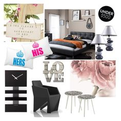 """Bedroom Under 500"" by metropulse ❤ liked on Polyvore featuring interior, interiors, interior design, home, home decor, interior decorating, Baxton Studio, Shades of Grey by Micah Cohen, NeXtime and bedroom"