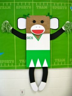Give A Cheer For A Great Year!   Sports Inspired Back-To-School Bulletin Board