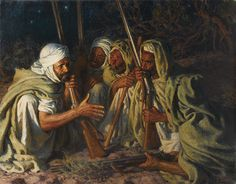 Le Conciliabule by Etienne Dinet.The French painter, Etienne Dinet, immersed himself completely in Algerian culture. He spoke Arabic fluently, converted to Islam, changing his name to Nasreddin ('Defender of the Faith') and went on the Hajjwith his friend Slimane Ben Ibrahim.