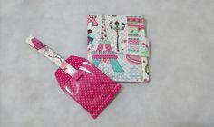 Kit porta passaporte + tag de mala produzido em tecido tricoline 100%. Algodão e estrutura de manta acrílica preço sob consulta tire suas dúvidas em( contatar vendedor)