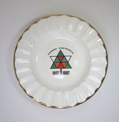 Vintage Canada Centennial Ashtray 18671967 gold by MagpieSue, $10.00