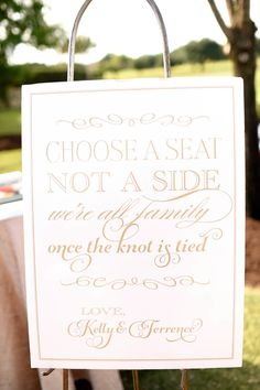 Kelly + Terrence Outdoor Wedding | Choose a seat, not a side | @ftpdallas | @5starweddings