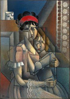 Jean Metzinger ( French, 1883 - 1956) The Woman at the window (Maternity) (La femme à la fenêtre, Maternité), 1911 Oil On Canvas Galerie Jacques de la Beraudière, Genève, Swithzerland