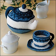 Pretty Little Tea Set by Kim Kotary -  Published in Crochet World Magazine, February 2011
