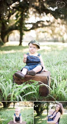 9 month baby session - outdoor photography  © 2015 Brandi Watford Photography LLC