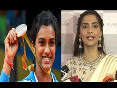 Sonam Kapoor wishes Olympic badminton player P. V. Sindhu.