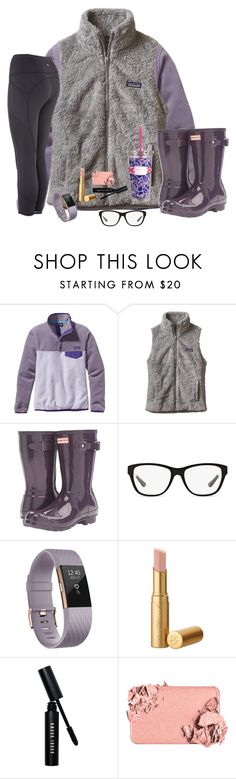"""Let Your Aspirations Become Inspiration"" by bowbeauty01 ❤ liked on Polyvore featuring Patagonia, Hunter, Ralph Lauren, Fitbit, Bobbi Brown Cosmetics, Too Faced Cosmetics, Lilly Pulitzer and bowbeautiful"