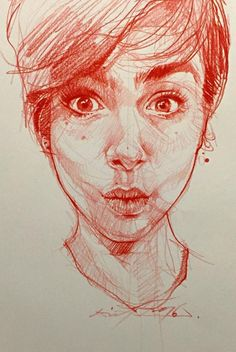 Quick sketch @lilyjcollins by Alvin Chong