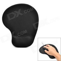 Brand: N/A; Model: mo-303; Quantity: 1; Color: Black; Material: Memory foam + elastic cotton; Others: Release wrist fatigue, comfortable to use; Packing List: 1 x Mouse pad; http://j.mp/1uO1COj