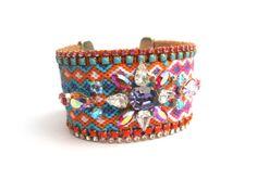 Friendship bracelet cuff  swarovski by distinguishedesigns on Etsy, $200.00
