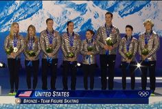USA team bronze medal for figure skating Sochi 2014