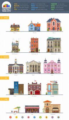 Oleg Beresnev illustration buildings
