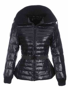 Women\'s Moncler Belted Outerwear Black at wholesale price