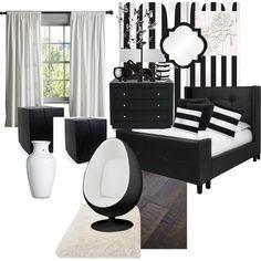 Stripes by vonda-brooks on Polyvore featuring interior, interiors, interior design, home, home decor, interior decorating, Worlds Away, Marimekko, Madison Park and Palecek