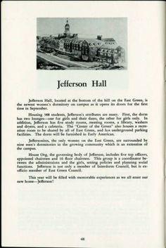 Jefferson Hall, You the Coed, 1957-1958; Ohio University Archives