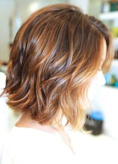 Caramel Highlights for Short Hair