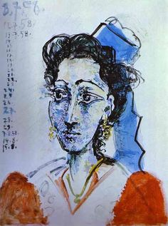 I1958 Pablo Picasso (Spanish artist, 1881–1973) Jacqueline Rocque.