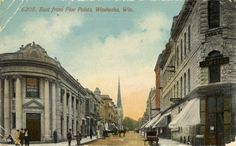 View from Five Points, 1910. Historical Image   Wisconsin Historical Society