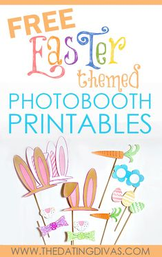 Easter Photobooth Props - These are so cute!! They will be a HIT at our party this year!