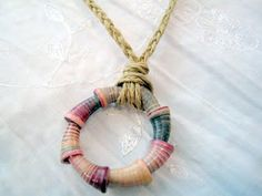 Paper and Whimsies: Paper Bead Cones Pendant
