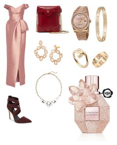 """""""I love this model 😍"""" by amo2002on ❤ liked on Polyvore featuring Monique Lhuillier, Daya, MANU Atelier, Tory Burch, Old Navy, Rolex and Cartier"""