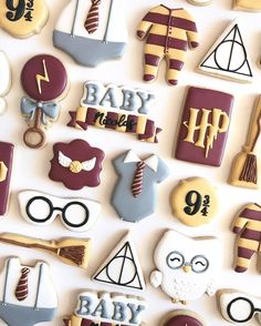 THE BIRTH SQUAD | New Baby | baby shower | cookies | dessert station | Gift ideas | Harry Potter theme | Birthday | Sweet treats | Cookies by Nina Marie Sweet Designs