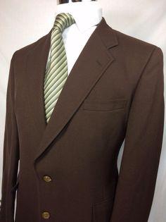 Vintage JACK NICKLAUS GOLDEN BEAR Hart Schaffner Marx Blazer Brown Size 42R