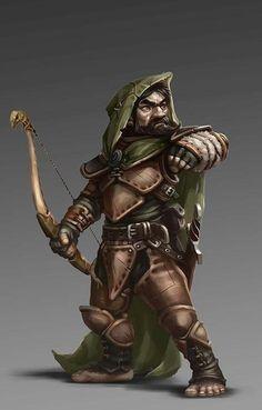 Halfling Ranger Archer - Pathfinder PFRPG DND D&D d20 fantasy