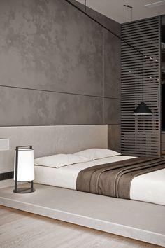 Gray and Red on Behance Modern Luxury Bedroom, Master Bedroom Interior, Modern Master Bedroom, Luxurious Bedrooms, Home Decor Bedroom, Modern Minimalist Bedroom, Bedroom Ideas, Bedroom Wall Designs, Modern Bedroom Design