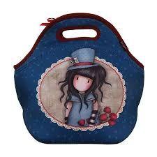 Santoro Gorjuss The Hatter Neoprene Lunch Bag Blue One Boy One Girl Santoro London, Neoprene Lunch Bag, Large Wallet, Shopper Bag, First Girl, Blue Bags, Bag Storage, Purses