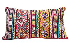 One Kings Lane is an online marketplace that brings shoppers exceptional value on a spectacular collection of top-brand, designer, and vintage items for the home. Hand Embroidery Designs, Embroidery Patterns, Kutch Work Saree, Moroccan Cushions, Textures And Tones, India Colors, Indian Heritage, Kids Pillows, Indian Home Decor
