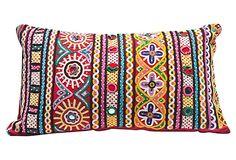 """Katchi Pillow DE - COR 17""""L x 10""""W x 4""""H ($220.00)  $89.00 OneKingsLane.com"""
