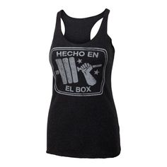 Hecho en el Box - Black - Women's Triblend Racerback Tank Top https://www.kettlebellmaniac.com/shop/