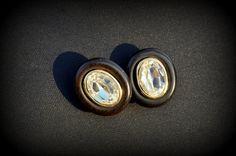 1970s original YSL Earrings Yves Saint by CatsAndHatsVintage, €30.00