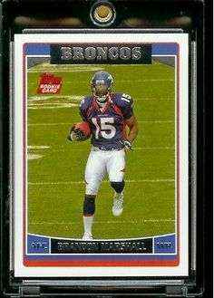 2006 Topps # 385 Brandon Marshall (RC) - Rookie Card - Denver Broncos - NFL Football Cards by Topps. $3.88. 2006 Topps # 385 Brandon Marshall (RC) - Rookie Card - Denver Broncos - NFLFootball Cards