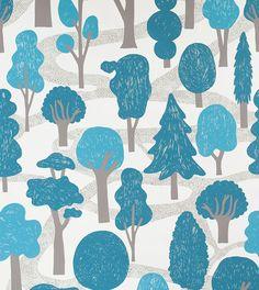 makelike (a shop) Zig Zag Wallpaper : Bright Blue