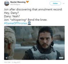 Ha ha ha! Game of Thrones.