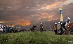 Historical reconstruction of the Battle of Kulikovo. The battle took place on 8 September 1380, at the Kulikovo Field near the Don River.  #russia #history #war #battle Akita, How Beautiful, Views Album, Yandex, Fairy Tales, Cool Photos, Russia, Battle, History