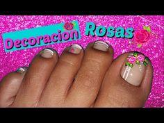 ♥Decoración de Uñas Pies Elegante/♥Chic Feet Nail Decoration - YouTube Pedicure Designs, Cool Nail Designs, Toe Nail Art, Toe Nails, Cute Pedicures, Beautiful Toes, Manicure, Diana, Youtube