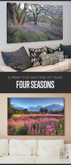 From winter mists to fields of summer, a world of seasons capturing Nature's most glorious (but fleeting) moments in our collection of wall art featuring the Four Seasons. Find your favorite Seasonal wall art at GreatBIGCanvas.com.