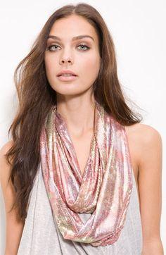 Betsey Sequin infinity scarf