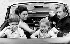 The Princess Margaret sister of Queen Elizabeth II, Countess of Snowdon with her husband The Earl of Snowdon and children Viscount Linley and The Lady Sarah Armstrong-Jones.