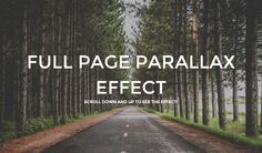 A lightweight full page parallax scroll effect....