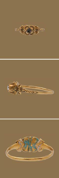 RENAISSANCE DIAMOND RING Western Europe, 16th century Gold, enamel, and diamond