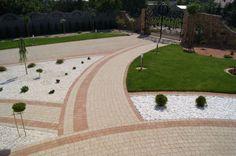 Kostka dekoracyjna Granit Płaski w kolorze Płukany Żółto-Kremowy i Płukany Łosoś - http://kostbet.pl/?page_id=955