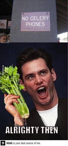 great, now what am I supposed to do with my celery phone?