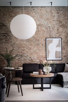 A Lovely Scandinavian Home With Exposed Brick — THE NORDROOM