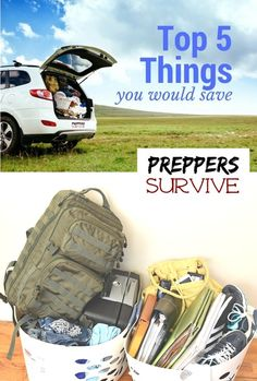 If you had 3 minutes to save 5 things what would they be? Preparing for an emergency evacuation.
